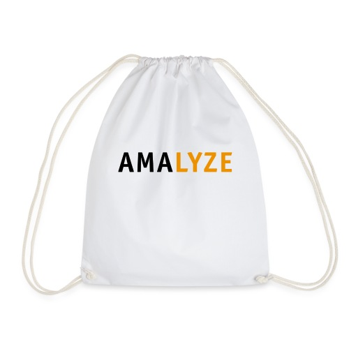 AMALYZE LOGO BLACK - Turnbeutel