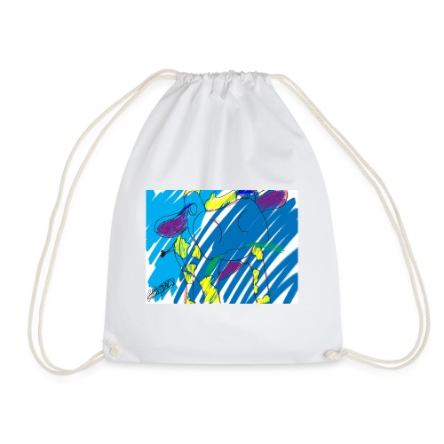Signed Rainbow Cow - Drawstring Bag