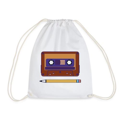 Cassette y Lapiz - Mochila saco