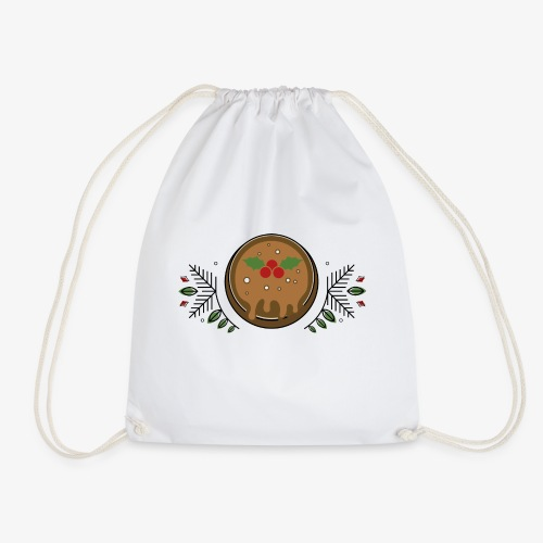 CHRISTMAS PUDDING - Drawstring Bag