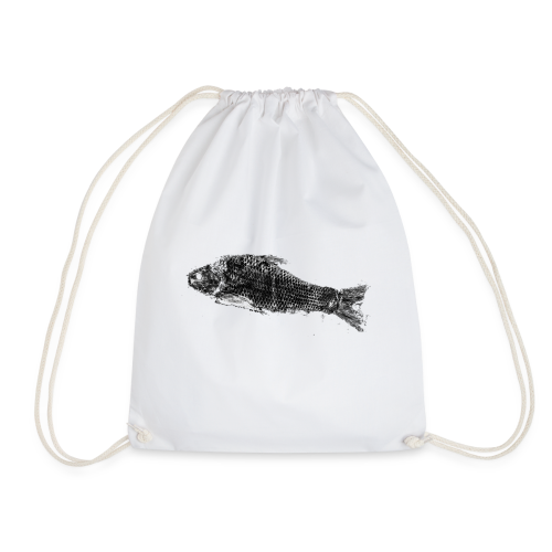 Gyotaku fish ink print - Drawstring Bag
