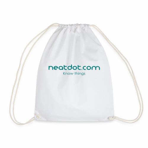 Logo Full slogan - Drawstring Bag