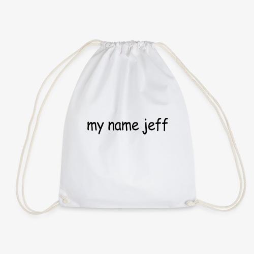 my name jeff - Drawstring Bag