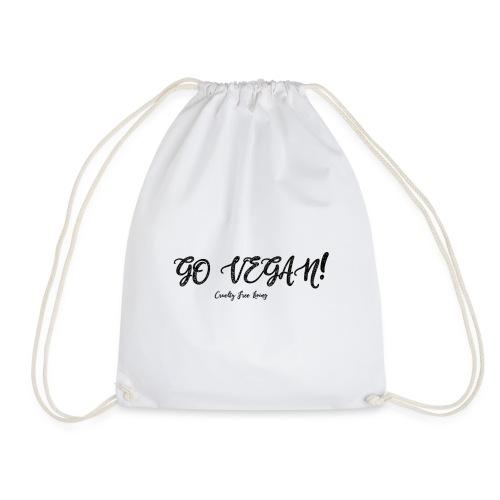 GO VEGAN - Drawstring Bag