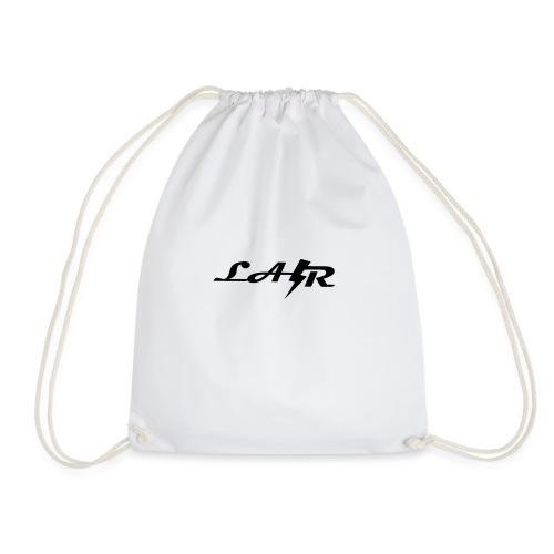 LaZr Lightning Bolt Text Logo - Drawstring Bag