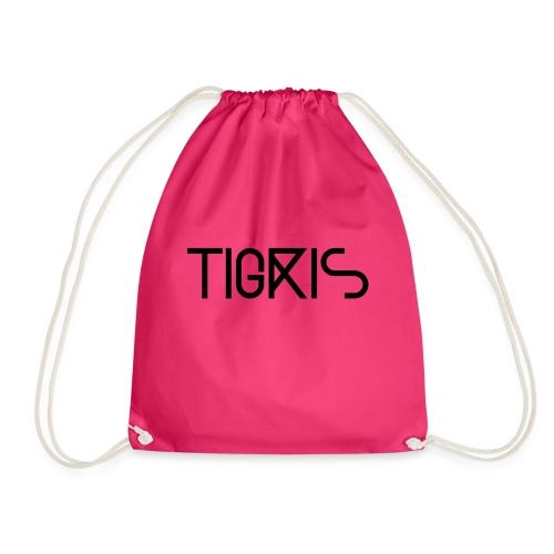Tigris Vector Text Black - Drawstring Bag