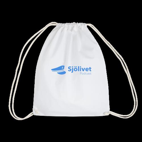 Sjölivet podcast - Svart logotyp - Gymnastikpåse