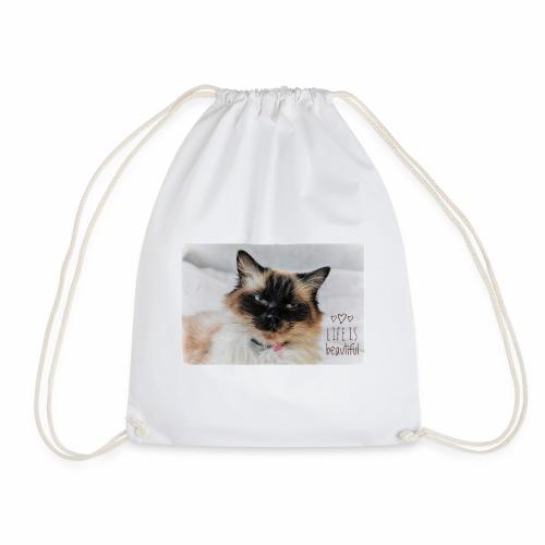 Life is beautiful - Drawstring Bag