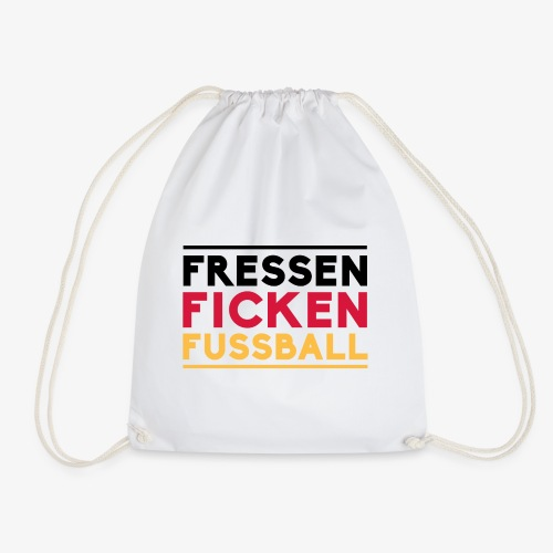 Fressen fickenfussball T Shirt Spruch - Turnbeutel