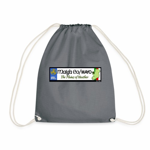 CO. MAYO, IRELAND: licence plate tag style decal - Drawstring Bag