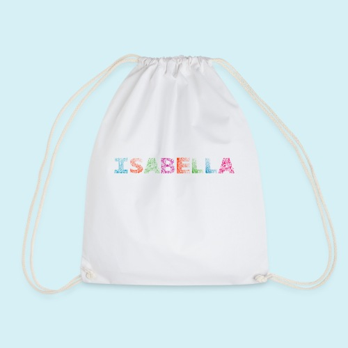 Isabella Letter Name - Drawstring Bag