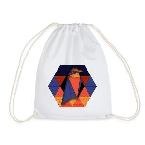 Raven Hexagon - Drawstring Bag