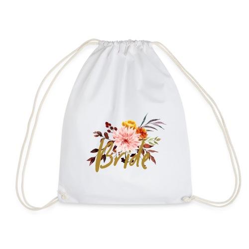 Bride - JGA - Florale Serie - Braut - Turnbeutel