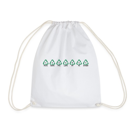 Recyclable Resin Identification Codes (RIC). - Drawstring Bag