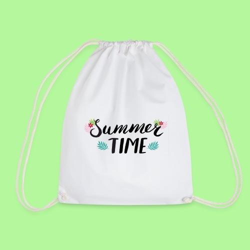Summer Time Black & White - Drawstring Bag
