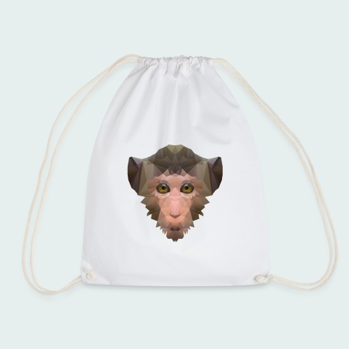Polygon Monkey - Drawstring Bag