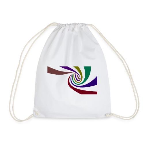 Farbige Spirale - Turnbeutel