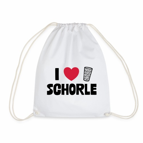 I love Schorle & Dubbeglas - Turnbeutel