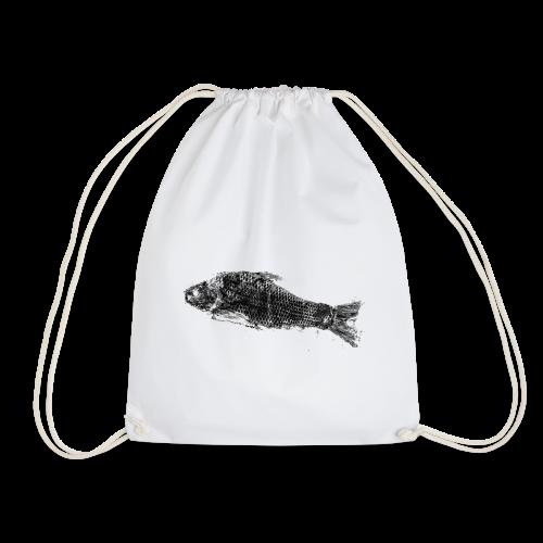 Gyotaku fish ink print - Drawstring Bag