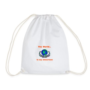 The world is my classroom - Drawstring Bag