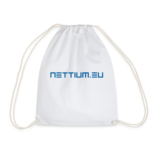 Nettium.eu logo blue - Drawstring Bag