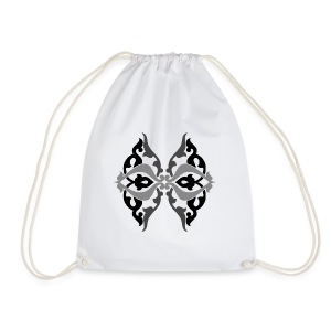 Parvaneh black and white - Drawstring Bag