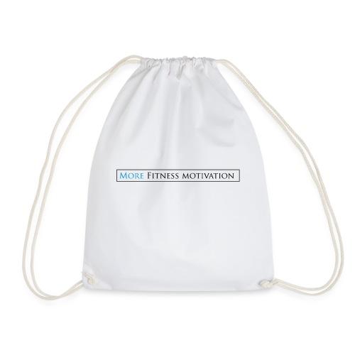 Female More fitness Motivation white/pink - Drawstring Bag