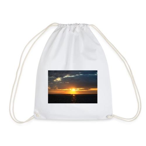 t-shirt zonsondergang - Gymtas