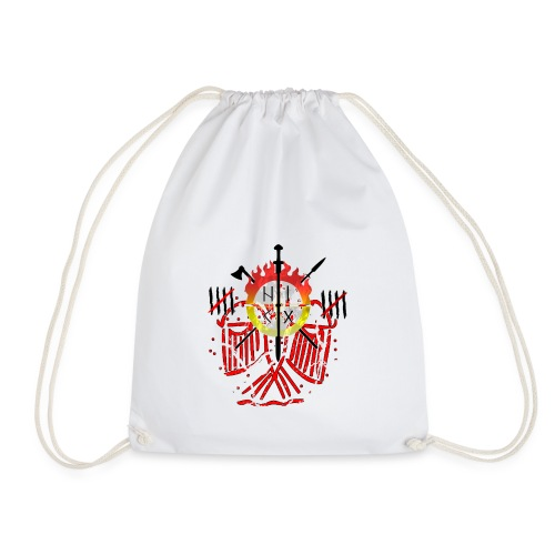 Adler rot Risse - Turnbeutel
