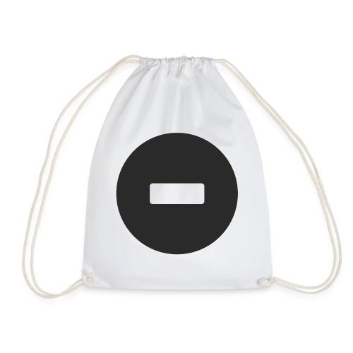 White-black button - Drawstring Bag