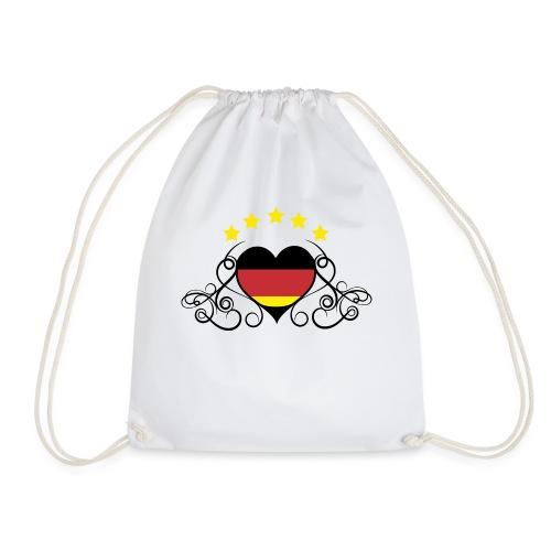 Tribal-Herz - Turnbeutel
