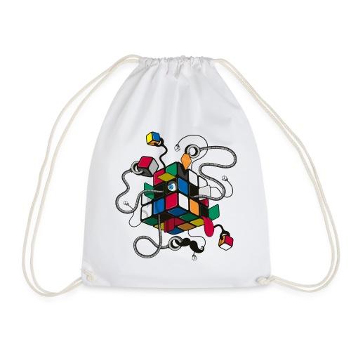 Rubik's Cube Robot Style - Drawstring Bag