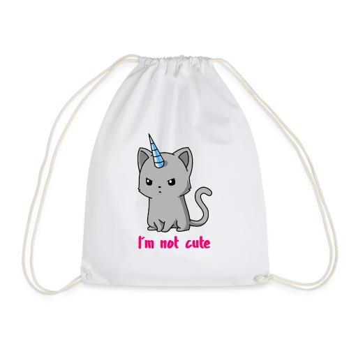 Einhorn Katze Ich bin nicht süß - Turnbeutel