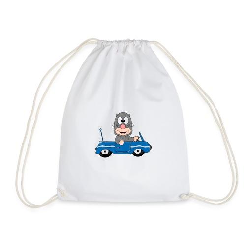 Lustiger Maulwurf - Mole - Auto - Cabrio - Fun - Turnbeutel