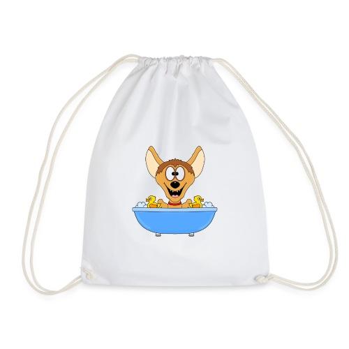 Lustige Hyäne - Badewanne - Kinder - Baby - Fun - Turnbeutel