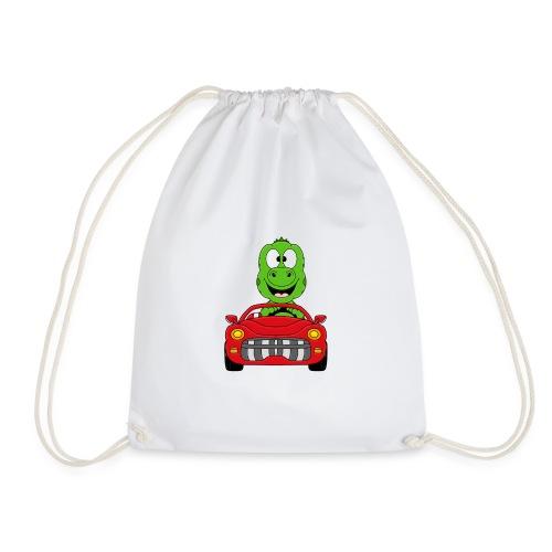 Lustiger Gecko - Echse - Auto - Cabrio - Car - Fun - Turnbeutel