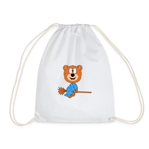 Lustiger Teddy - Bär - Hexe - Kind - Baby - Fun - Turnbeutel