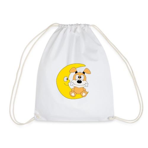 Lustiger Hund - Dog - Knochen - Mond - Tier - Turnbeutel