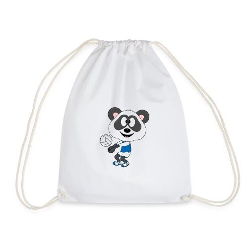 Lustiger Panda - Bär - Volleyball - Sport - Fun - Turnbeutel