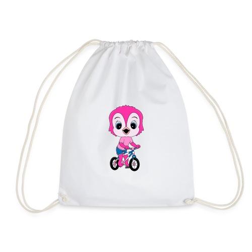 Lustige Eule - Fahrrad - Sport - Kind - Baby - Turnbeutel