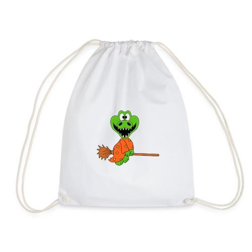 Lustiges Krokodil - Hexe - Kind - Baby - Fun - Turnbeutel