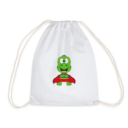 Lustige Echse - Gecko - Superheld - Kind - Baby - Turnbeutel