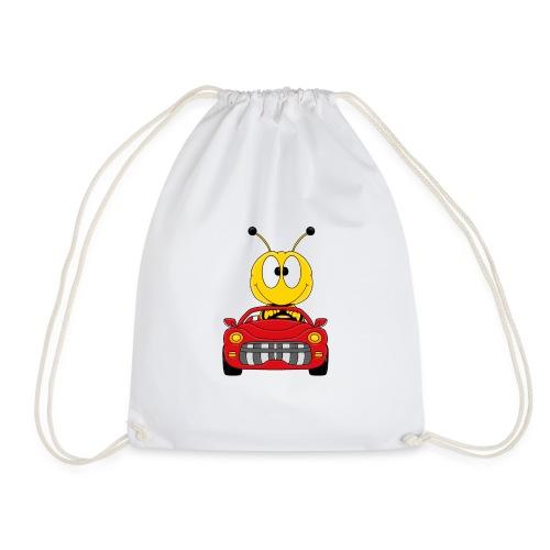 Lustige Biene - Auto - Cabrio - Tier - Fun - Turnbeutel