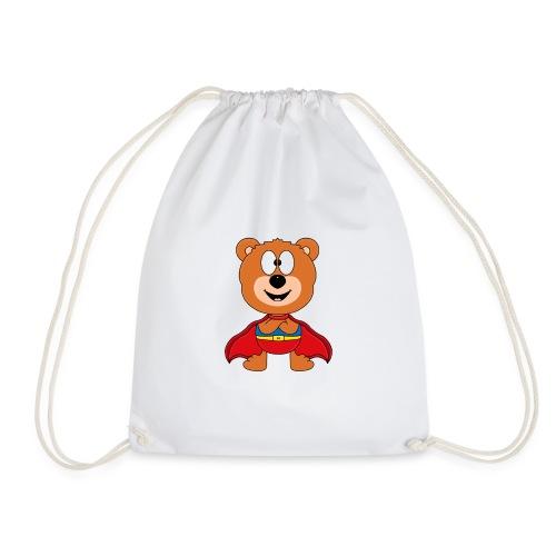 Teddy - Bär - Superheld - Kind - Baby - Tier - Turnbeutel