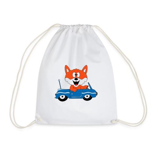 Fuchs - Auto - Cabrio - Tier - Führerschein - Fun - Turnbeutel