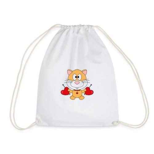 Hamster - Herzen - Liebe - Love - Kind - Baby - Turnbeutel