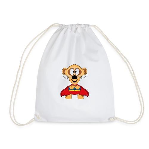 Erdmännchen - Superheld - Kind - Baby - Tier - Turnbeutel