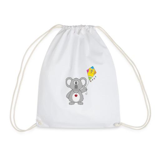 Panda - Drachen - Kite - Tier - Kind - Baby - Turnbeutel
