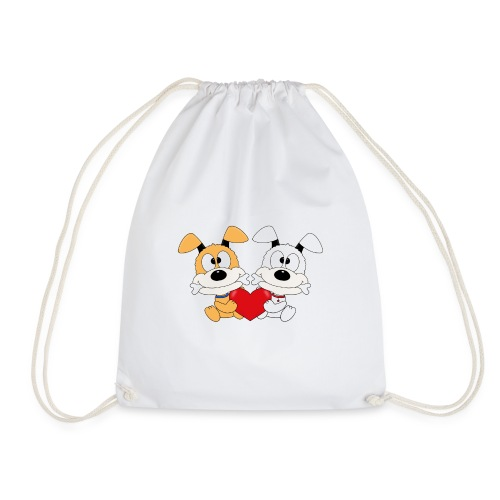 Hunde - Herz - Liebe - Love - Kind - Baby - Tier - Turnbeutel
