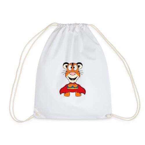 Tiger - Superheld - Kind - Baby - Fun - Turnbeutel